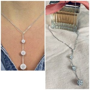 Lariat Necklace SS With Swarovski® Crystals